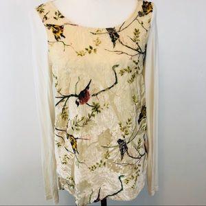 Anthropologie Deletta Oak Song Bird Blouse Size XS